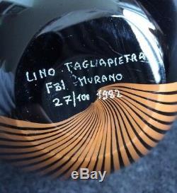 Lino Tagliapietra Signé Vase 27/100 Murano 1982 Effertre Internationale