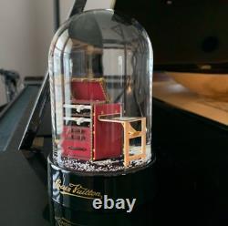 Louis Vuitton Vintage Damier Steamer Trunk Collectible Snow Globe + LV Box