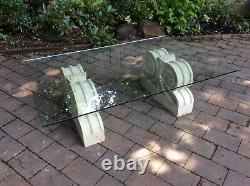 Ltd Livraison Gratuite Stylish Quality Glass Topped & Stone Haddenstone Low Tableau