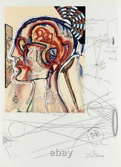 Lunettes Avec Hologrammes & Ordinateurs, Lithographie En Édition Limitée, Salvador Dali