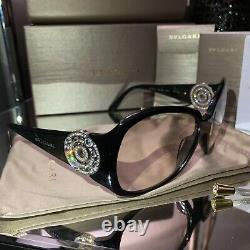 Lunettes De Soleil Bvlgari Cadres Swarovski Crystal Edition Limitée 8008-b Lunettes De Vue