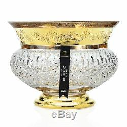 Maison Rare De Crystal Lismore Chateau Waterford Dore Bowl # 4/50 Pdsf 3500 $