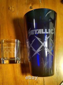 Metallica Edition Limitée XXX Pince Et Ensemble De Verre De Shot Metclub 2012