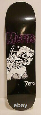 Misfits Zero Skateboard Woman With Wine Glass Rare Limited Edition To 300