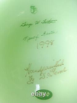 Nancy Fenton 1998 Fenton Ltd #2340 Main Signée D. Genel Jack In The Pulpit Vase
