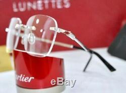 New Cartier Rimless Oscar Limited Edition 0.16 Ct X 2 Lunettes De Soleil Occhiali Cadre