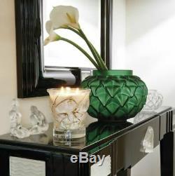 Nouveau Grand Vase Lalique Languedoc Vert Émeraude Limited Edition Rare Centerpiece