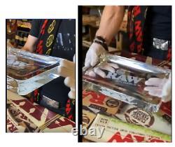 Nouveau! Raw Rolling Papers Crystal En Verre Plateau Roulant 6+ Lbs Édition Limitée 9x12