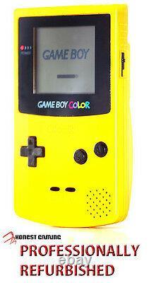Nouvel Écran En Verre - Nintendo Game Boy Color Yellow Cgb - Performances Restaurées