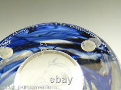 Orrefors Verre Olle Alberius Vase Perle Pêcheurs Graal 9 1/2
