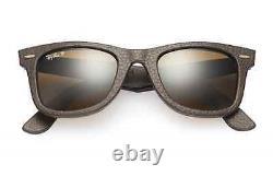 Polarized Ray-ban Wayfarer Lunettes De Soleil Neophan En Cuir Authentique Rb 2140 Qm 1153/n6