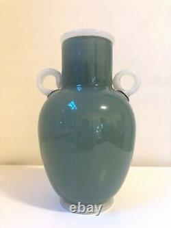 Preston Singletary Green Vase, 1997 Glass Sculpture Authentic, Signé