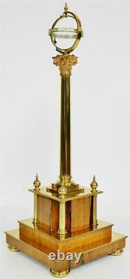 Rare English 8 Day Geoffrey Bell Mystère Pilier Céleste Horloge En Dôme En Verre