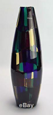 Rare Fulvio Bianconi Pezzato Vase, Par Venini, Murano, Italie. Vers 2005