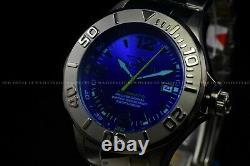 Rare Invicta 47mm Pro Diver Blue Glass Automatic Nh35a Gunmetal Montre Polie