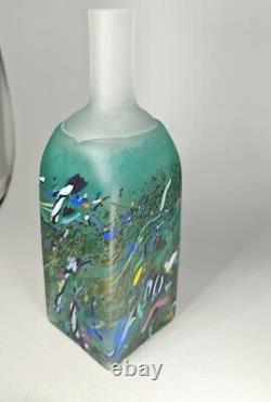 Rare Kosta Boda Atelier Bertil Vallien Vase En Verre Peint Bouteille Signée Numérotée