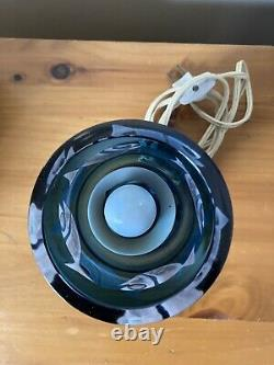 Rare Kosta Ove Sandeberg Blue Glass Fish Lampe Suédois MID Century Modern MCM