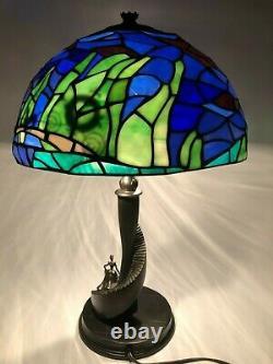 Rare Limited Edition Disney Tiffany-style Cendrillon Vitrail Lampe Nouveau