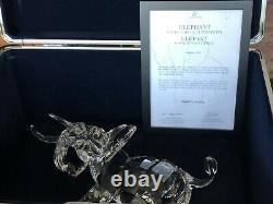 Rare Swarovski Signé Numéroté Édition Limitée 2006 Elephant 854407 Nib