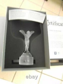 Rolls-royce Glass Car Mascot Desk Hood Ornament Trophy Français Par Crlstal Lalique