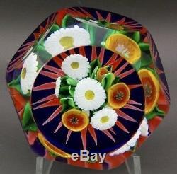 Saint Louis Belle Fleurs Six Verre Art Facettes Paperweight, Avr 2.75wx2.25h