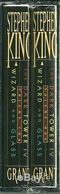 Stephen King The Dark Tower IV Et Verre Assistant Signed Edition Limitée (scellé)