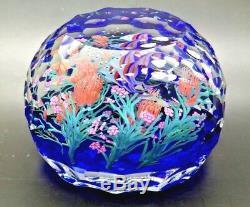 Steven Lundberg Angelfish Art Glass Lt Ed Magnum Paperweight, Avr 3.25hx4.25w