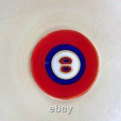 Tapio Wirkkala Pour Venini Occhio Charger Plate 1991 Murano Design 1967/68
