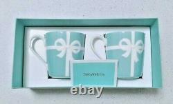 Tiffany & Co Blue Ribbon Pair Mug Cup Set Gift Box Limited Du Japon Porcelaine