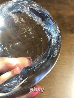 Tiffany & Co Large Glass Cat Paperweight