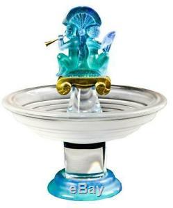 Unique Et Rare Daum France Cristal De Verre Aztèque Pate Centerpiece