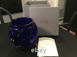 Vase Tourbillons En Édition Limitée Lalique, Signé # 123 De 999 Pièces, Nouveau Dans La Boîte