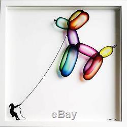 Veebee Balloon Dog Signé Édition Limitée Sur Verre