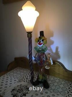 Vintage Années 1950 Serguso Murano Verre Clown Lampe Superbe Et Rare