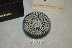 Vintage Perthshire Paperweights New Millitori Pattern Limit Edition Paperweight