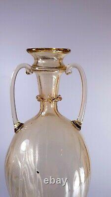 Vintage Rare Années 1920 Murano Vittorio Zecchin Pour Cappellin-venini Soffiati Vase