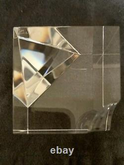 Vintage Steuben Verre Sphères Flottantes Cube Prisme Papiers Papiers Lloyd Atkins