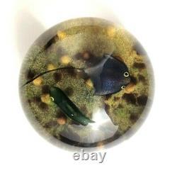 William Manson Ecosse Art Glass Stingray Paperweight 1980 90/100